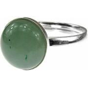 Inel argint reglabil cu aventurin verde natural 10 MM GlamBazaar Reglabila cu Aventurin Verde tip inel reglabil de argint 925 cu