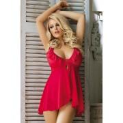 Aviona szett - csábító hálóing és női alsó piros SM