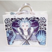 Ice Queen Present Gift Favor Christmas Bag with Glitter and gift tag