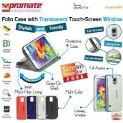 Promate Lucent S5 Bookcover with T-Screen Window Colour: White