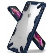 Protectie Spate Ringke Fusion X 8809628563605 pentru iPhone Xs Max (Transparent/Albastru)