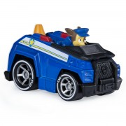 Macheta metalica Paw Patrol - Chase si masina de politie, True Metal