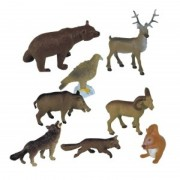 Set de 8 figurine Animale din padure Miniland