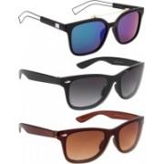 NuVew Wayfarer Sunglasses(Black, Blue, Brown, Green)