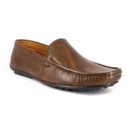 Mclout Mens Tan Slip on Loafers