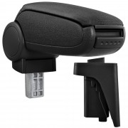 Подлакътник [pro.tec]® Audi A3 S3 8P с контейнер за съхранение, Текстил /Черен