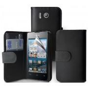 Huawei Ascend Y300 Wallet Калъф + Скрийн Протектор