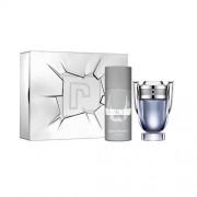 Invictus Paco Rabanne 100 ml EDT SPRAY + deodorante spray 150 ml Confezione Regalo