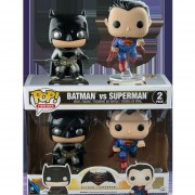 Funko Pop Set Batma Y Superman Metalicos Batman V Superman Dawn Of Justice-Multicolor