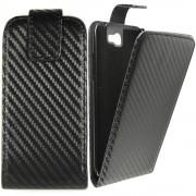 Калъф тип тефтер Carbon за Samsung i9190 / i9195 Galaxy S4 Mini
