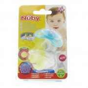 Nuby Leuchtschnuller Blau-Eule 6 - 18 Monaten