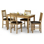Coxmoor Oak Rectangular Dining Table - Table + 4 Chairs