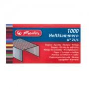 Herlitz Heftklammern, Büroklammer aus Metall zum Verbinden von zwei oder mehreren Blättern Papier, 1 Packung = 1000 Stück