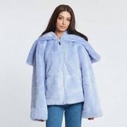 Puma Faux Fur Shawl Collar Jacket Easter Egg/Evening Blue