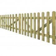 vidaXL Poorten 2 st 300x100 cm FSC geïmpregneerd hout