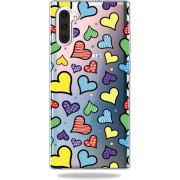 Mobigear TPU Cartoon Hartjes Samsung Galaxy Note 10