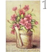 Falikép virág kannában 20x31cm 2féle 4229 - Falikép