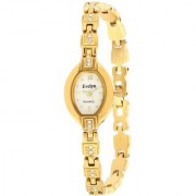 Evelyn Stainless Steel Gold Plated Wrist Watch for Women-EVE-538