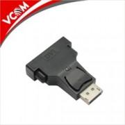 Преходник VCom, от DisplayPort(м) към DVI(ж), черен