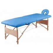 Masszázs ágy két zónás, hordozható, összecsukható, kék színű 9752300