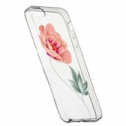 Husa Silicon Transparent Slim Rose 127 Apple iPhone 5 5S SE