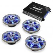 Auna HiFi комплект за кола BeatPilot FX-401, високоговорители, усилвател (PL-4.0-1-6.5)