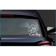 Cow Boy Car Truck Window Bumper Vinyl Sticker Sticker 32