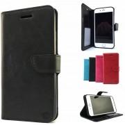 Zwarte Wallet / Book Case / Boekhoesje/ Telefoonhoesje / Hoesje Samsung Galaxy J3 2016 SM-J320 met vakje voor pasjes, geld en fotovakje
