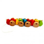 Cute Small Wooden Caterpillar Toy Colorful Crawler Caterpillars Baby Kids Toy Mini Funny Child Worm Puzzle Toys