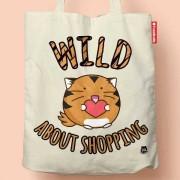 Fuzzballs Fuzzballs Totebag - Wild about shopping