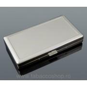 Tabachera metalica 0163 pentru 18 tigari lungi 11.5cm