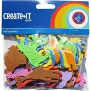 Haza Foam dieren hobby/knutsel materiaal voor kinderen 64 stuks