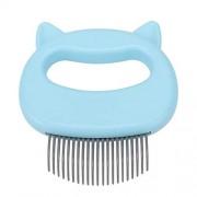 HERCHR 1 Unids Peine de Perro Masaje de Gato Peine de Concha Peinado de Mascotas Depilación Cepillo de Limpieza, ABS(Azul)
