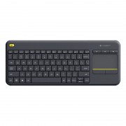 Logitech K400+ Wireless Touch Keyboard Preto