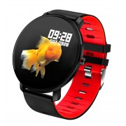 1.3-inch K9 Round Touch Screen IP68 Waterproof Bluetooth Sport Step Count Smart Watch - Red