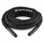 Capital Sports Corope, negru, 15 metri, frânghie de antrenament, poliester (FIT13-Corope)