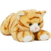 Semo Pluche speelgoed poes/kat knuffeldier oranje 25 cm