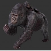 H-100050 Female Gorilla with Baby