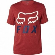 FOX Camiseta Fox Heritage Forger Tech Heather Burgundy