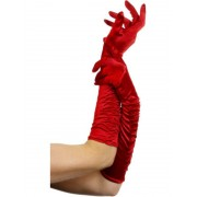 Fever Gants Temptress Red Long 46cm / 18 inches