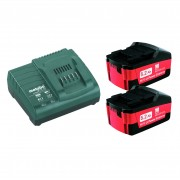 METABO SET DI BASE 2 BATTERIE DA 5,2 AH + CARICABATTERIE