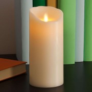 LED candle Flame made of real wax, 18 cm
