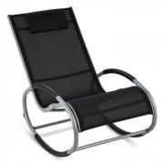 Retiro Cadeira de Baloiço Moderna Alumínio Poliéster 62x92x107cm Preto