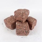 Павета от гранит Червен клен глиц 8 х 8 х 8 см (1 тон = 5 кв.м.)