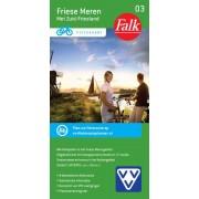 Fietskaart 03 Friese Meren met Zuidoost-Friesland ( Met Knooppuntennetwerk) | Falk