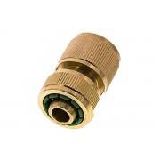 """Axis24 GmbH Kupplungsdose Schlauch 13 mm (1/2"""") , Messing, mit Wasserstopp"""