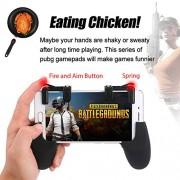 Ocamo Sensitive Shoot and Aim Keys Shooter Controller Mobile Gaming Trigger for PUBG Games (Black,XJSJDZ0622-LWCJ18)