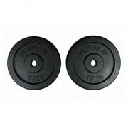 RING Tegovi 2x15kg crni standardni liveni - RX PLO1-15