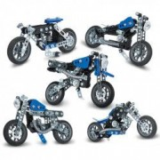 Set Constructie 5 in 1 Motocicleta 174 Piese Meccano