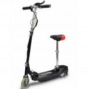 vidaXL Електрически скутер със седалка 120 W, цвят черен